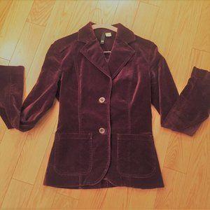 Vintage H&M Lush Burgundy Velvet Blazer Jacket XS